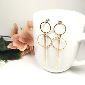 Jewelry - Gold Geometric Drop Dangle Earrings